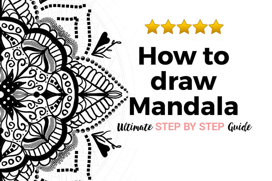 how to draw mandala